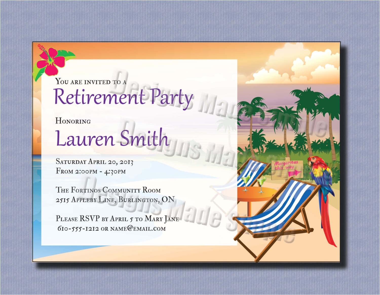Free Printable Retirement Party Invitations Retirement Party Invitations Template