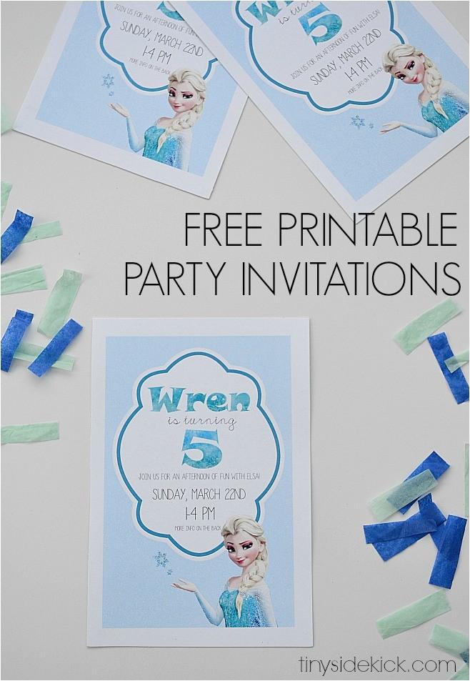 Frozen Birthday Party Invitations Printable Frozen Birthday Invitations Printable theruntime Com