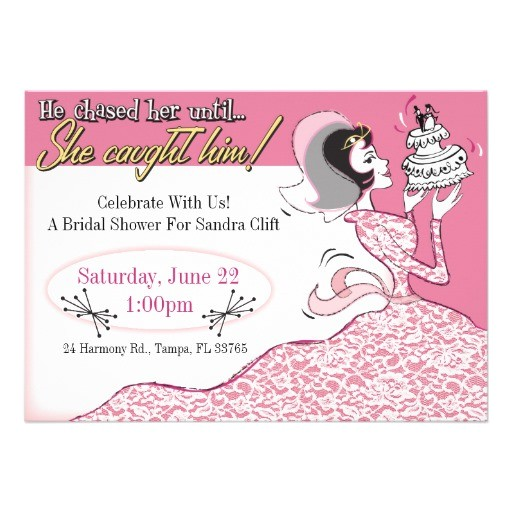 Fun Bridal Shower Invitations Funny Retro Bridal Shower Invitation Template 5 Quot X 7