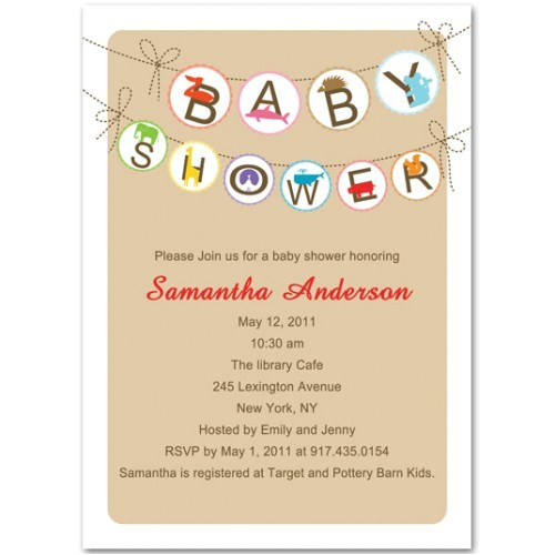 Funny Baby Shower Invites Funny Trendy Animals Neutral Baby Shower Invitation Bs036