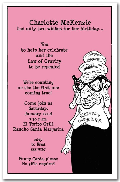 Funny Birthday Invitation Wording for Adults Funny Birthday Party Invitation Wording