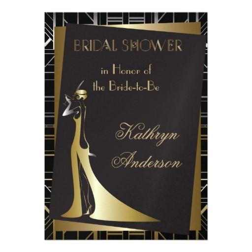 Gatsby Bridal Shower Invitations Classic Gatsby Deco Bridal Shower Invitation 5 Quot X 7