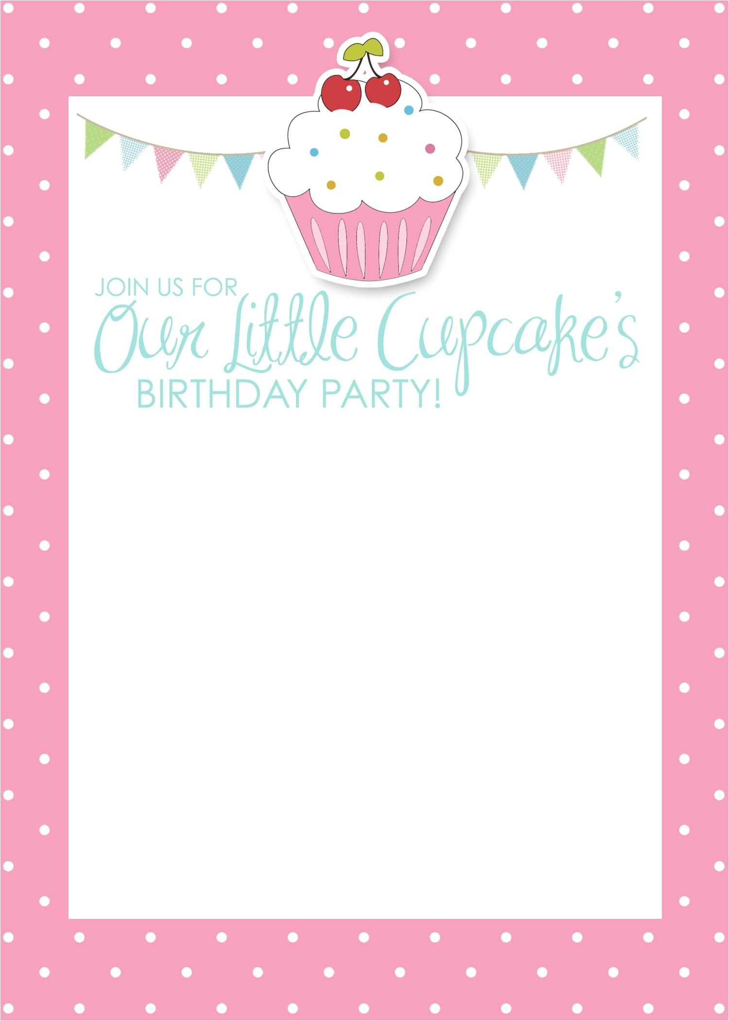 Girly Birthday Invitations Free Printable Free Printable Birthday Invitations for Girls Template