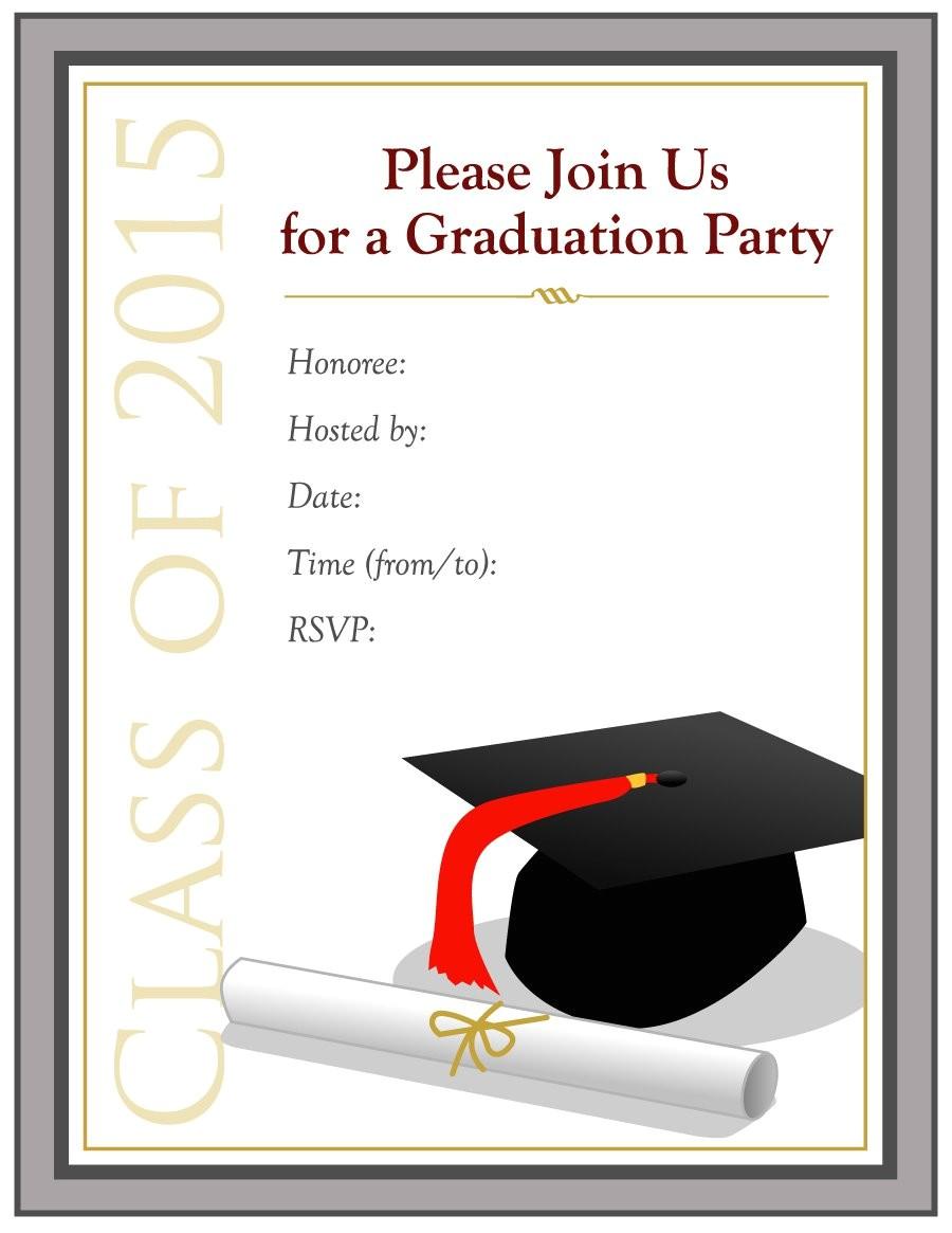 Graduation Party Invitation Templates 40 Free Graduation Invitation Templates Template Lab