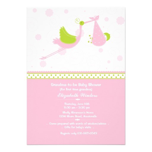 Grandma Baby Shower Invitations Grandma S First Baby Shower Invitation