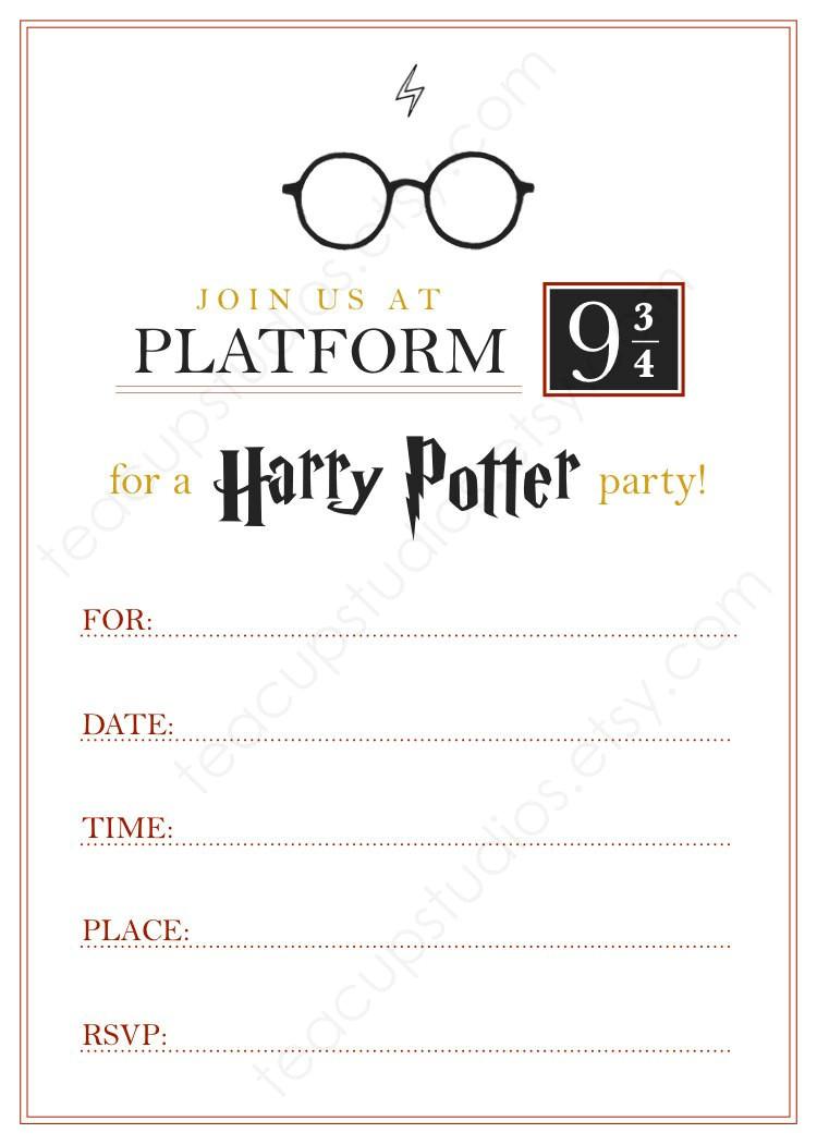Harry Potter Birthday Invites Free Printables Printable Harry Potter Invitation Pdf