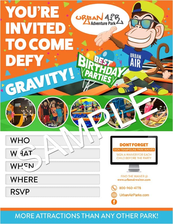 Http Urban Air Trampoline Park Download Birthday Party Invitations Download Party Invitations