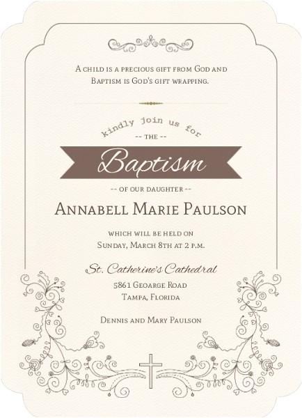 Invitation for Baptism Words Catholic Baptism Invitation Wording Twins formal Lds