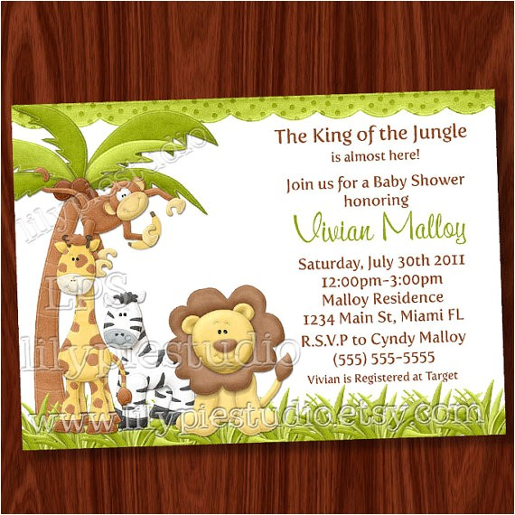Jungle theme Baby Shower Invitation Wording 8 Best Of Jungle theme Invitations Free Printable