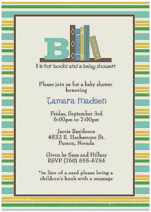 Library themed Baby Shower Invitations Baby Shower Invitation Elegant Library themed Baby Shower