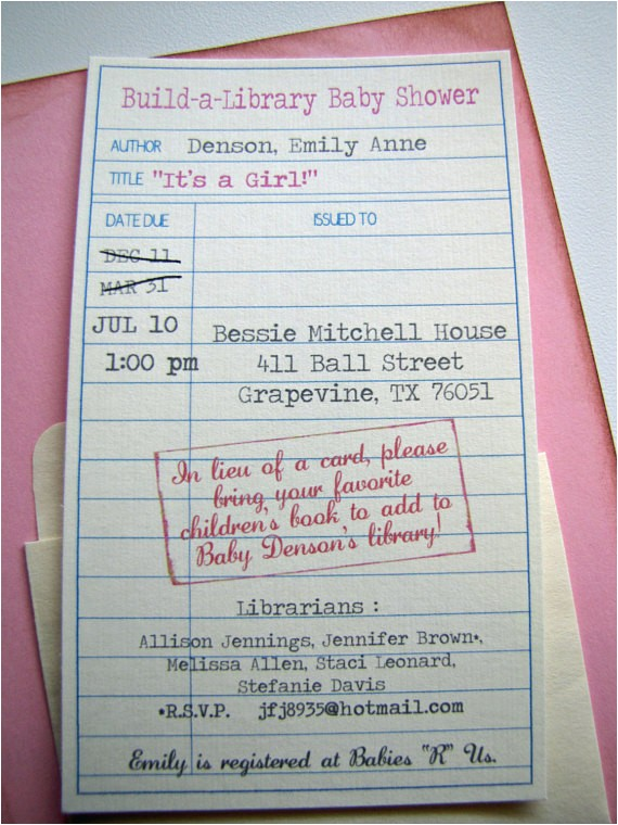 Library themed Baby Shower Invitations Unavailable Listing On Etsy