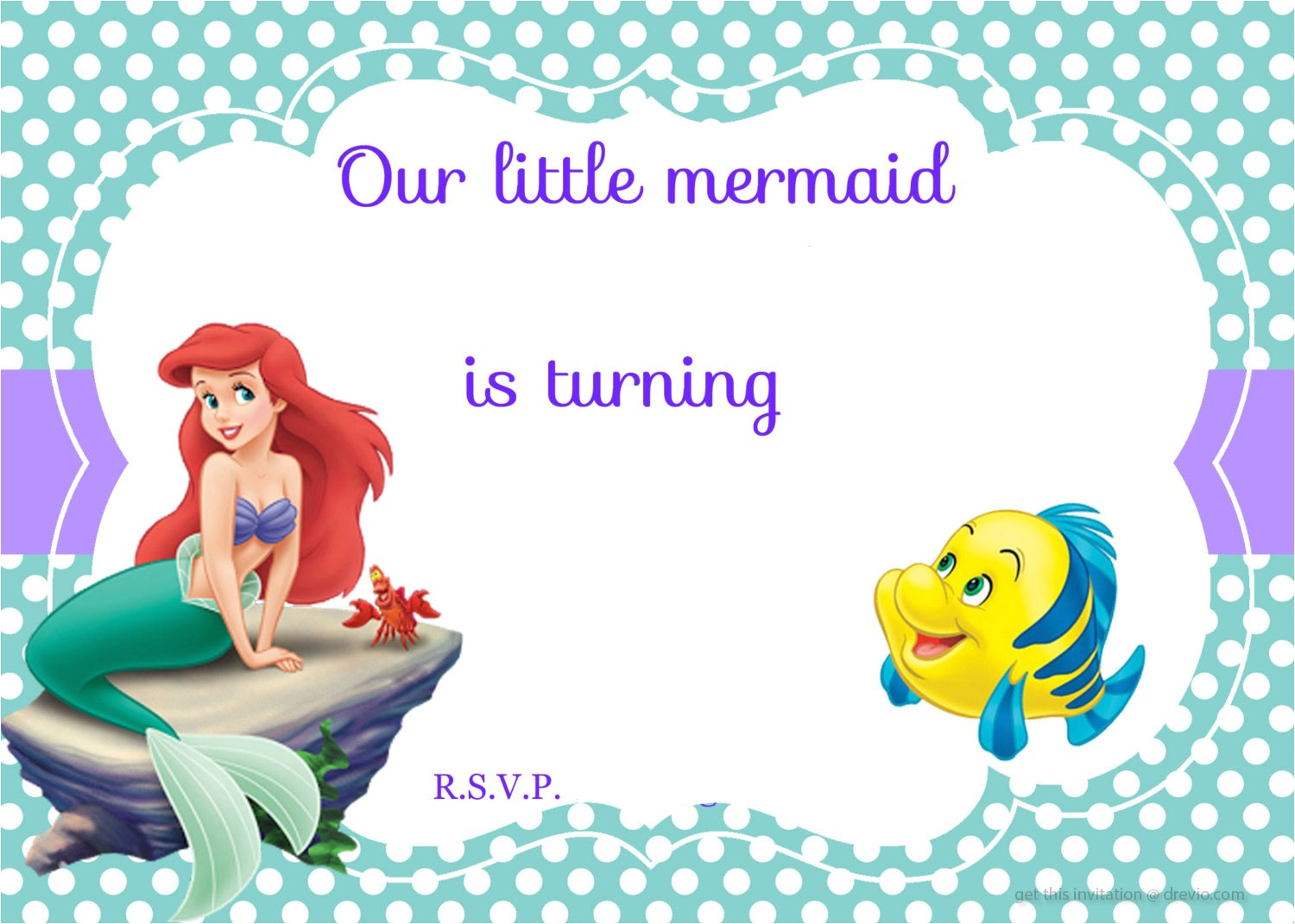 Little Mermaid Birthday Invitations Free Printables Updated Free Printable Ariel the Little Mermaid