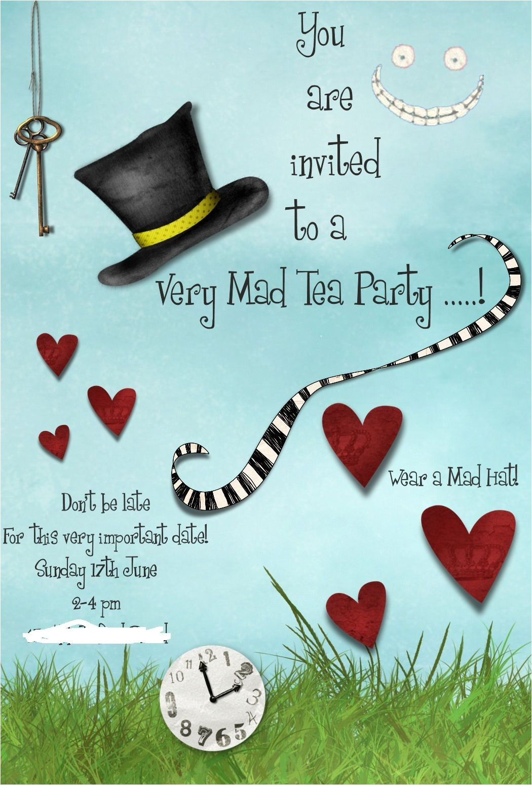Mad Hatter Tea Party Birthday Invitations Mad Hatters Tea Party Invitation Template Free