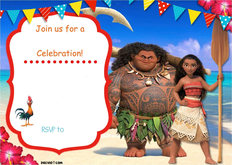 Moana Birthday Invitation Template Free Moana Birthday Invitation Template Free Invitation