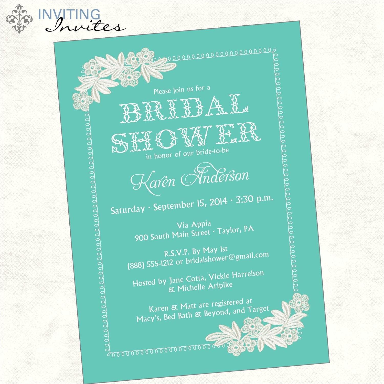 Monetary Bridal Shower Invitation Wording Bridal Shower Invitation Wording Bridal Shower