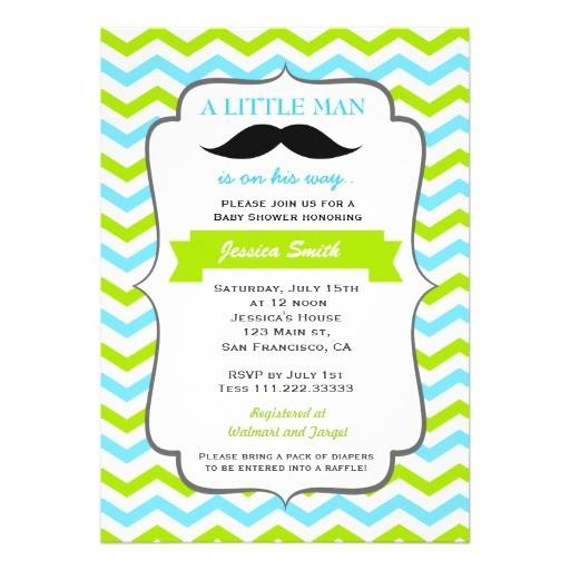 Mustache Invitations for Baby Shower Mustache Baby Shower Invitation