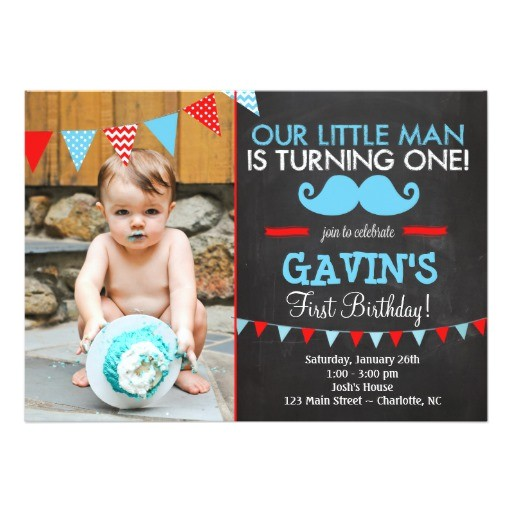 Mustache Invitations for First Birthday Mustache First Birthday Invitation