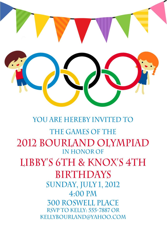 Olympics Party Invitation Olympic Party Invitation Olympics Birthday Invitation Digial