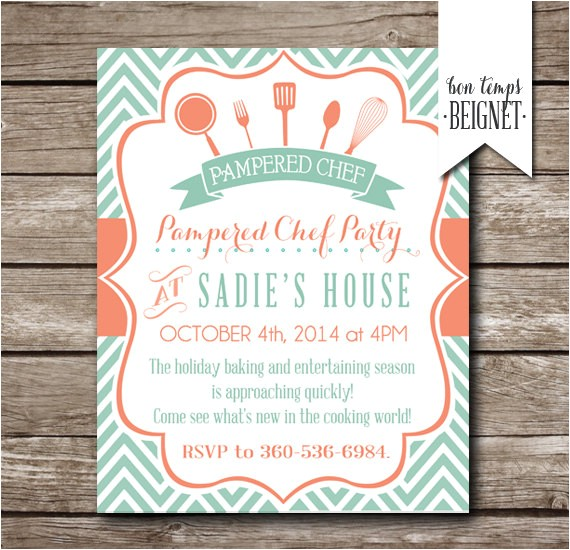 Pampered Chef Party Invitation Pampered Chef Party Invitation Bridal Shower Invitation
