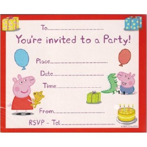 Peppa Pig Birthday Party Invitation Template Free Peppa Pig Birthday Invitations Template