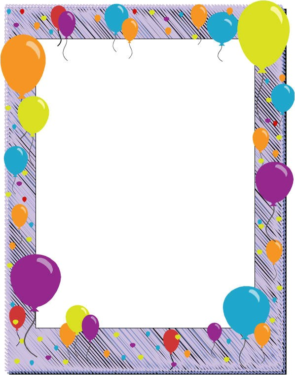 Printable Birthday Invitation Borders and Frames 6 Free Borders for Birthday Invitations