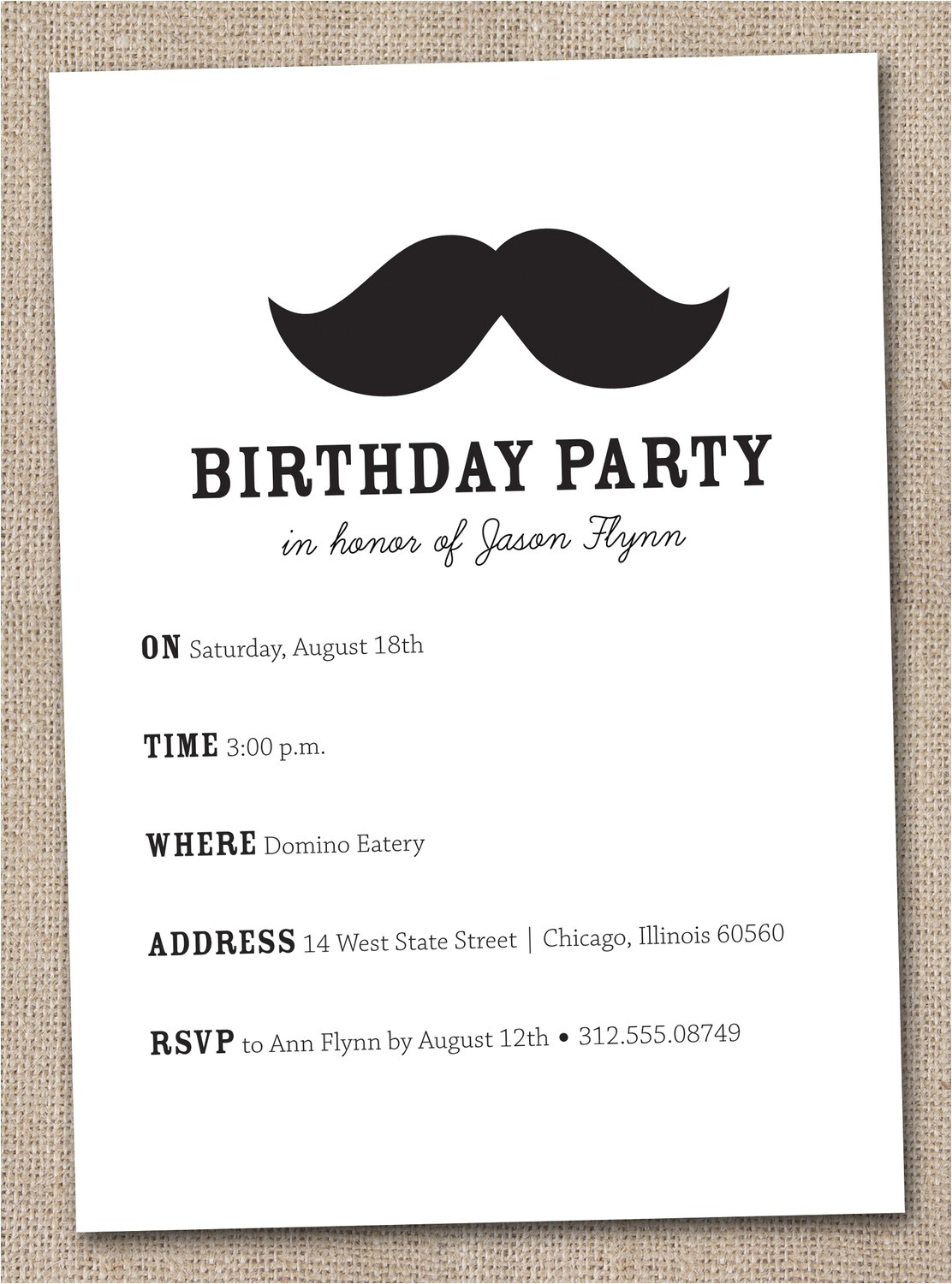 Printable Mustache Birthday Invitations 7 Best Of Mustache Party Invitations Printable Free