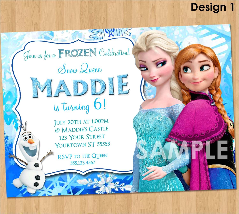 Printable Personalized Frozen Birthday Invitations Frozen Invitation Frozen Birthday Invitation Disney Frozen