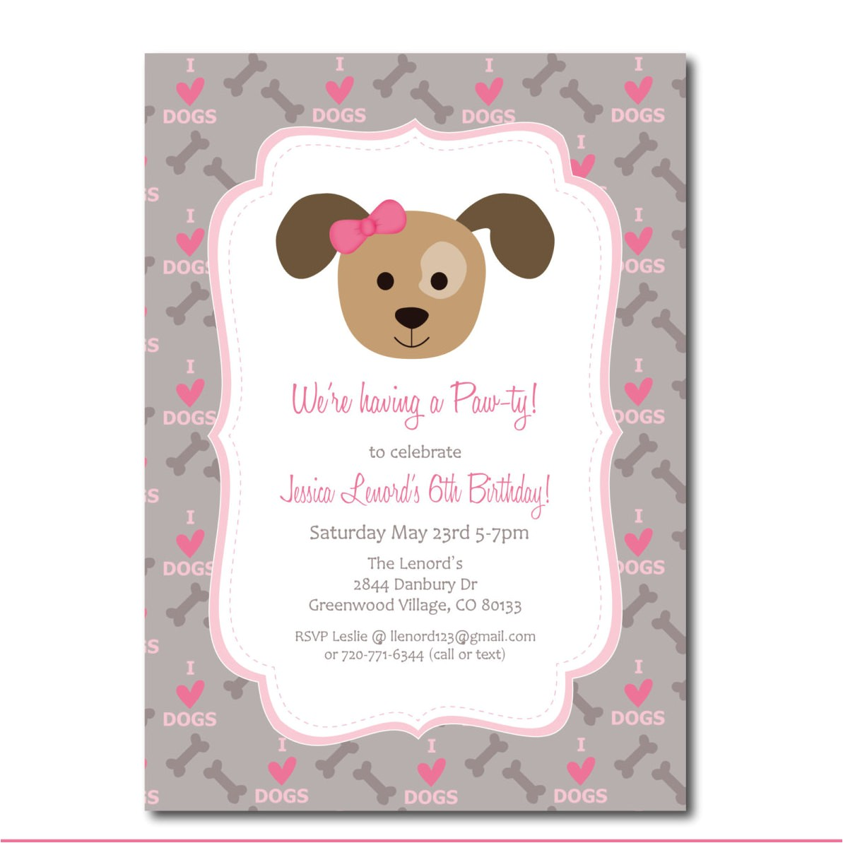 Puppy Party Invites Puppy Party Invitation with Editable Text Dog Party