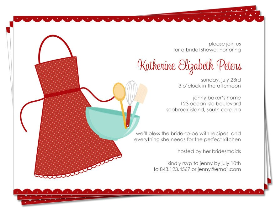 Recipe themed Bridal Shower Invitation Wording Bridal Shower Invitations Bridal Shower Invitations