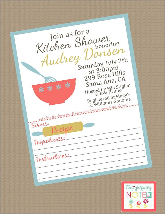 Recipe themed Bridal Shower Invitations Unavailable Listing On Etsy