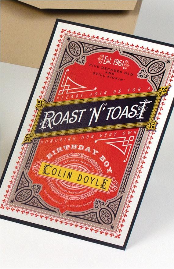 Roast and toast Birthday Invitation Roast and toast Birthday Invitation