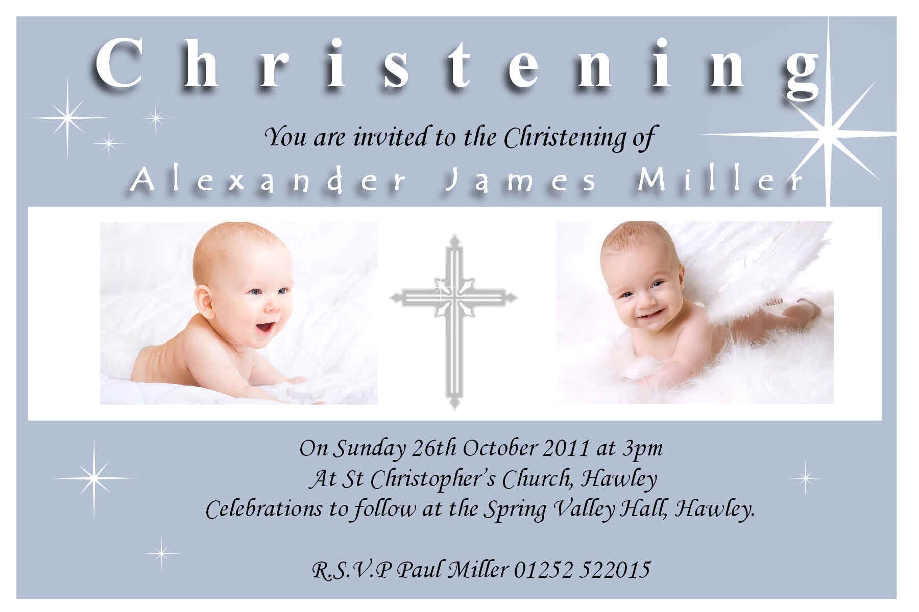 Sample Picture Of Baptismal Invitation Christening Invitation Sample