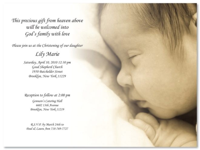 Sample Picture Of Baptismal Invitation Pretty Christening Baptism Invitation Template Sample with