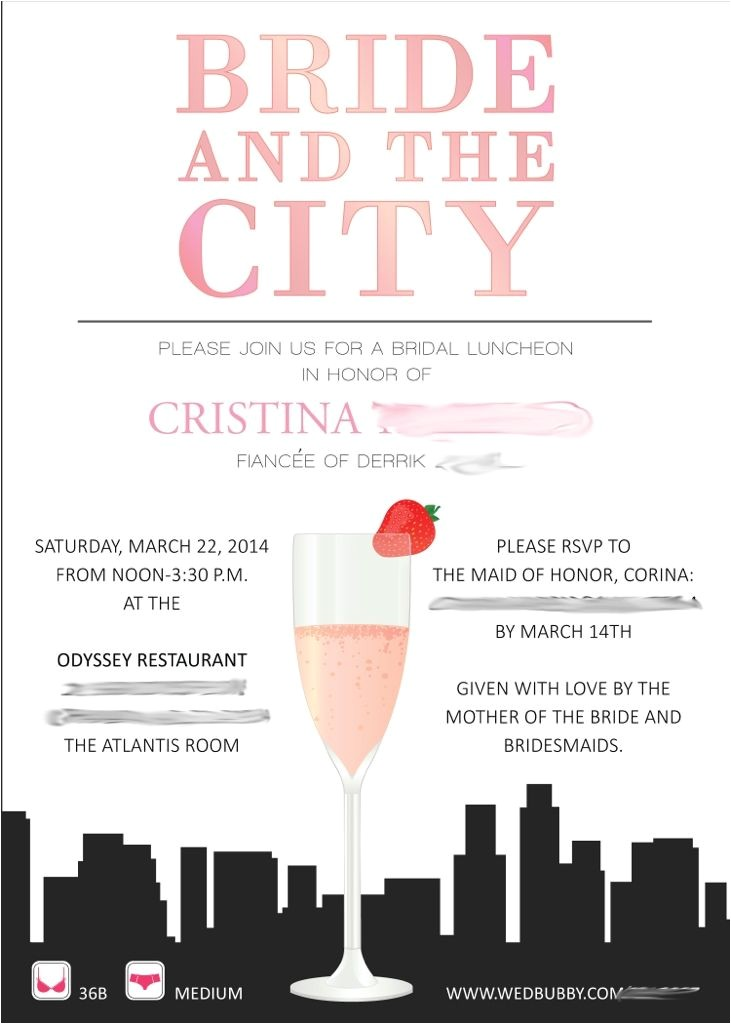 Sex In the City Bridal Shower Invitations and the City themed Bridal Shower Invitation
