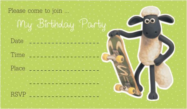 Shaun the Sheep Birthday Party Invitations Free Printable Birthday Invitations for Boys – Bagvania
