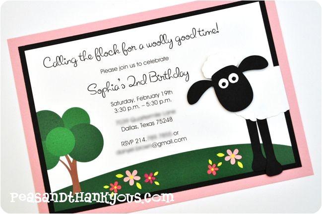 Shaun the Sheep Birthday Party Invitations Shaun the Sheep Invitation Party Ideas