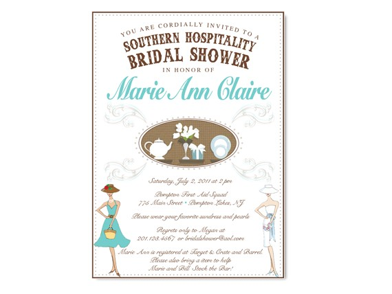 Southern Bridal Shower Invitations southern Hospitality themed Bridal Shower Invitation On Luulla