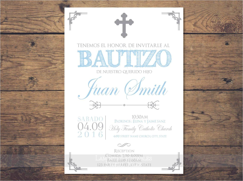 Spanish Baptism Invitation Wording Samples Baptism Invitations In Spanish Baptism Invitations In