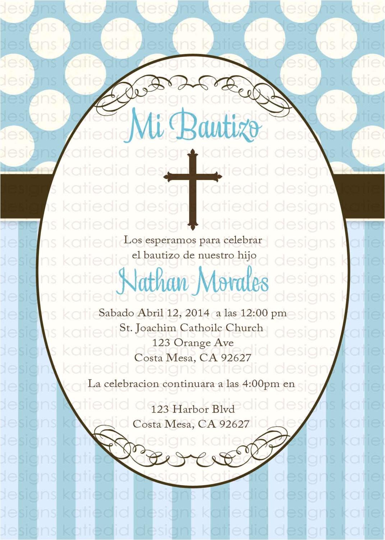 Spanish Baptism Invitation Wording Samples First Munion Invitation Spanish Christening Baptism