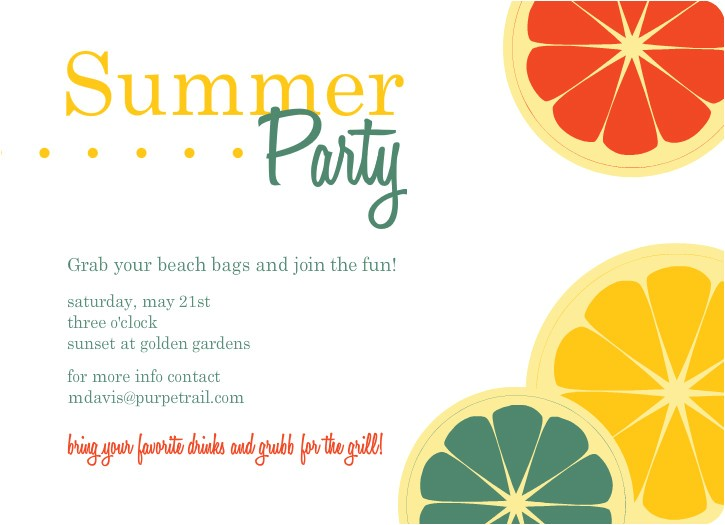 Summer Party Invitation Wording Summer Party Invitations theruntime Com