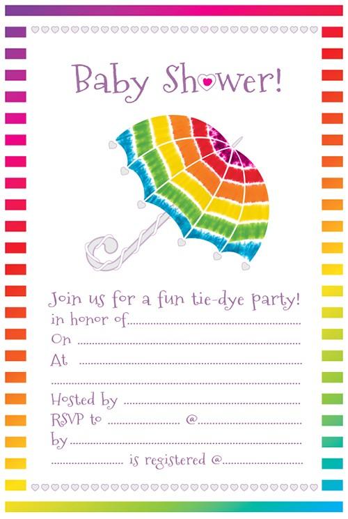 Tie Dye Baby Shower Invitations Stunning Tie Dye Baby Shower Invitations In Show with Bee
