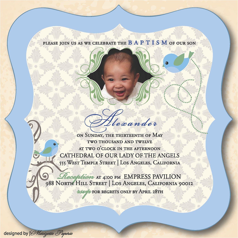 Unique Baptismal Invitation for Baby Boy Designs Baby Boy Christening Invitation Also Unique and