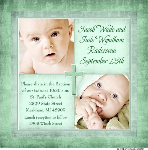 Unique Baptismal Invitation for Baby Boy Personalized Catholic Christening Invitation Boy