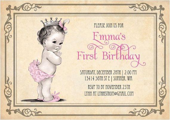 Vintage 1st Birthday Party Invitations Vintage Birthday Invitations Ideas – Bagvania Free