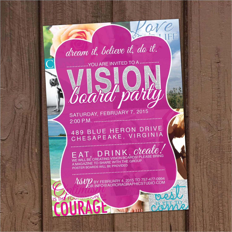 Vision Board Party Invitation Wording Vision Board Party Invitation