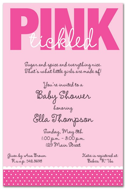Wording On Baby Shower Invites Baby Shower Invitation Wording for A Girl