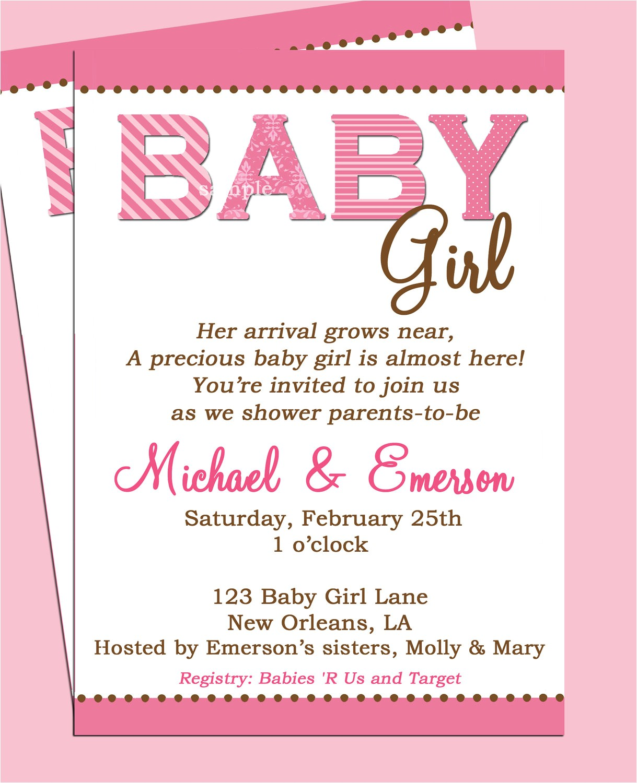 Wording On Baby Shower Invites Baby Shower Invitation Wording