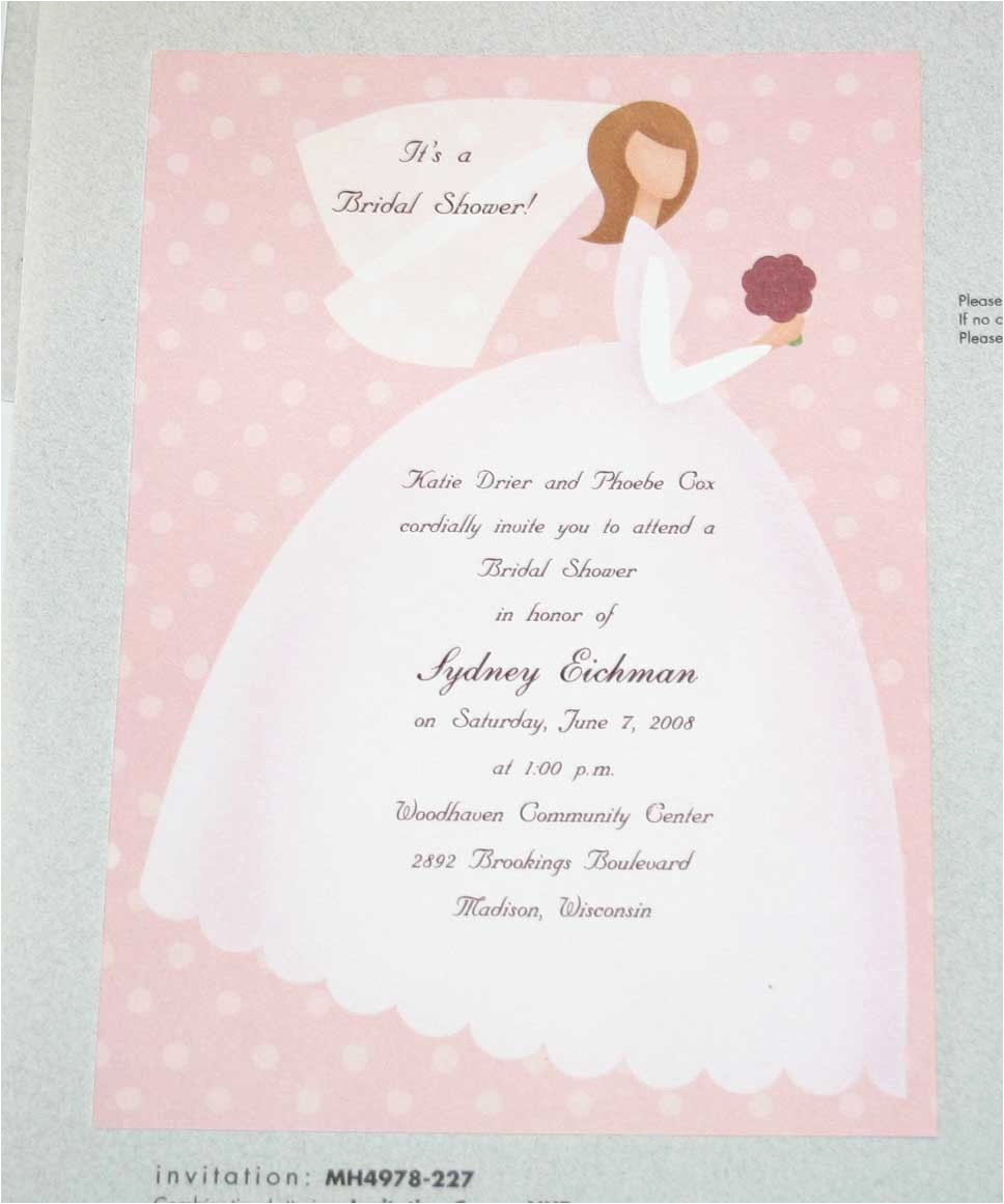 Write In Bridal Shower Invitations What to Write In A Wedding Shower Card Unique Ideas