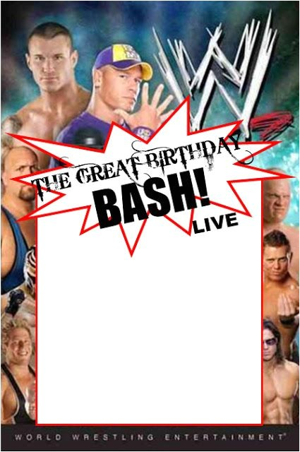 Wwe Birthday Party Invites Wwe Party Swimming Pool Parties and Party Invitation