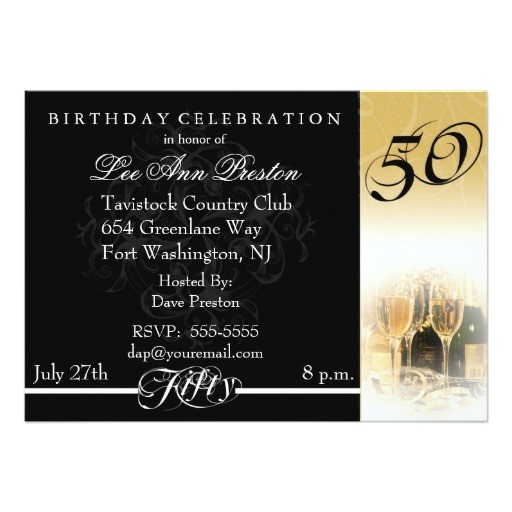 Zazzle 50th Birthday Invitations 50th Birthday Party Invitations